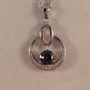 Jewelry - 18K WGF Mystical Topaz Zircon Pendant Necklace